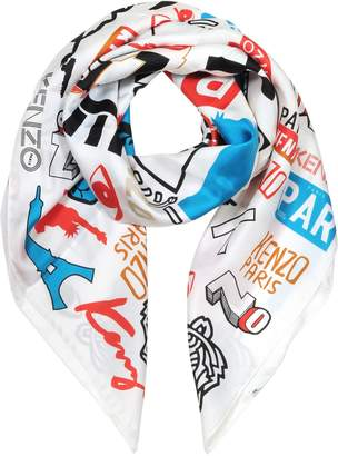 Kenzo Signature Eye Printed Silk Square Scarf