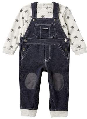 Calvin Klein Star Top & Overalls Set (Baby Boys 12-24M)