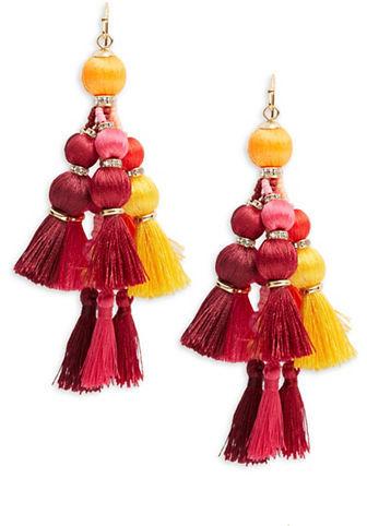 Kate SpadeKate Spade New York Pretty Poms Tassel Statement Earrings