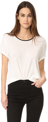 James Perse Relaxed Ringer Tee $106 thestylecure.com