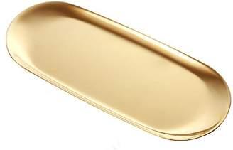 Green fox Stainless Steel Towel Tray Storage Tray Dish Plate Tea Tray Fruit Trays Cosmetics Jewelry Organizer
