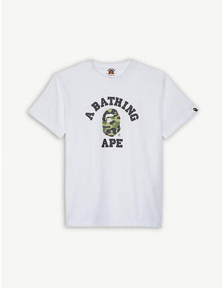 A Bathing Ape College logo cotton T-shirt 4-8 years