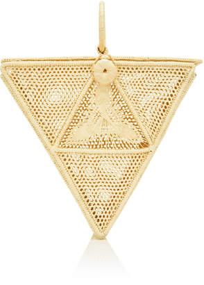 Sensi Studio El Triangulo Straw Top Handle Bag