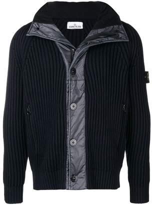 Stone Island panelled zip up cardigan