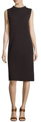 Eileen Fisher Sleeveless Funnel-Neck Sheath Dress, Petite $248 thestylecure.com