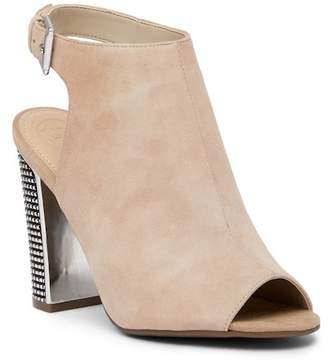 GUESS Geogia Peep Toe Suede Ankle Boot