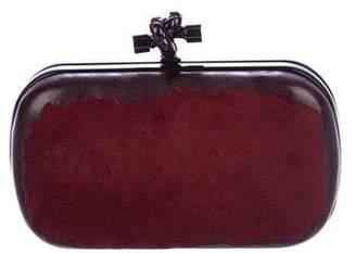 Bottega Veneta Leather & Suede Knot Clutch
