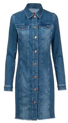 HUGO BOSS Slim-fit shirt dress in Italian comfort-stretch denim