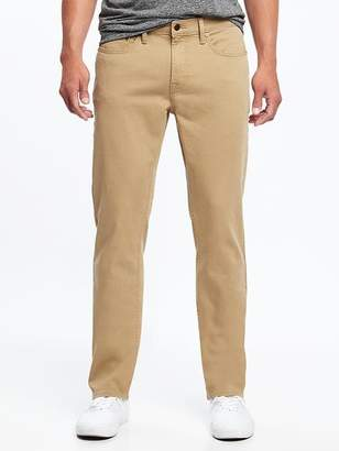Old Navy Straight Built-In Flex Twill Five-Pocket Pants