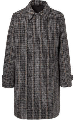 Stella McCartney Lance Double-Breasted Checked Wool-Blend Tweed Coat - Gray