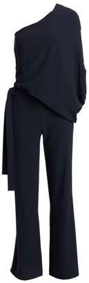 Halston Asymmetric Wide Leg Jumpsuit