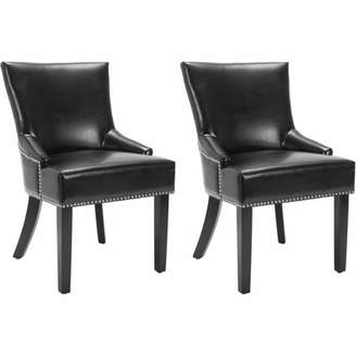 Safavieh Bicast Leather Lotus Side Chair, Set of 2, Multiple Colors