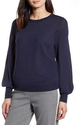 Halogen Puff Sleeve Sweater (Regular & Petite)