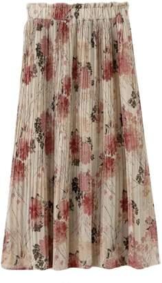 Goodnight Macaroon 'Deondra' Floral Pleated Midi Skirt