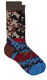 Gosha Rubchinskiy X adidas Men's Camouflage Cotton-Blend Mid-Calf Socks - Red