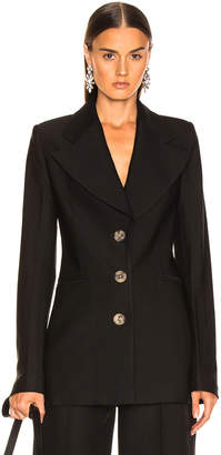 KHAITE Mckenna Long Blazer in Black | FWRD