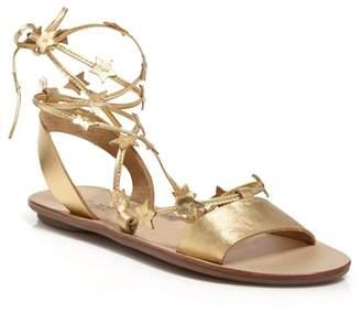 Loeffler Randall Women's Starla Leather Ankle Tie Sandals