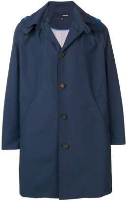 Lardini hooded trench coat
