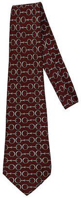 One Kings Lane Vintage Hermès Burgundy & Gray Horsebit Tie
