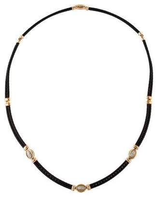 Charriol 18K Diamond Black Celtic Nautical Cable Necklace