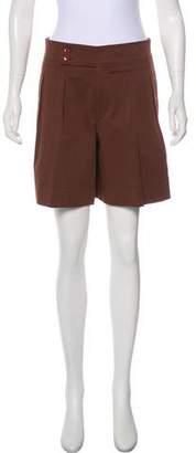 Etro Pleated High-Rise Shorts