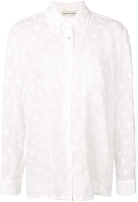 Mansur Gavriel floral embroidered shirt