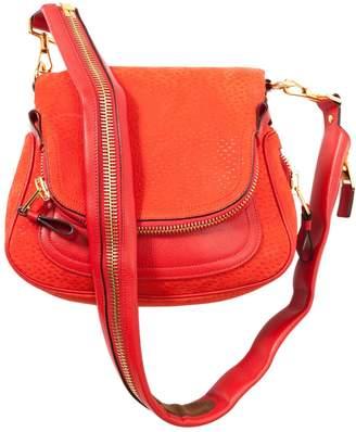 Tom Ford Jennifer Orange Suede Handbag
