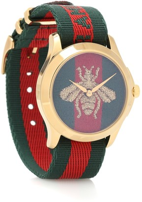 Gucci Le Marche des Merveilles 38mm striped fabric watch