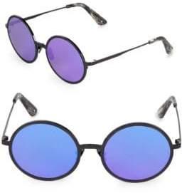 52MM Charlie Mirrored Round Sunglasses