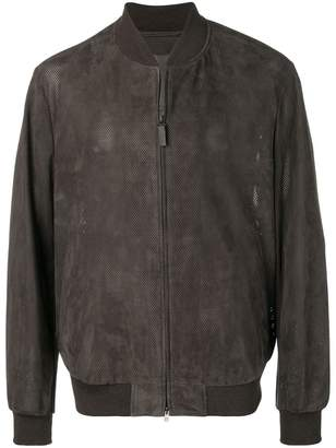 Brioni perforated bomber jacket