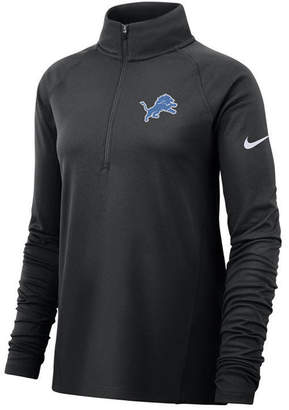 Nike Women Detroit Lions Half-Zip Core Element Pullover