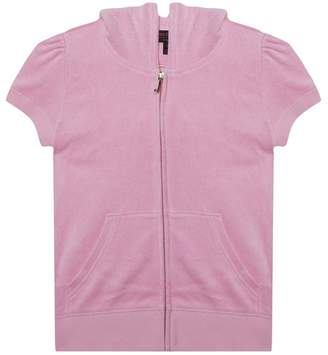 Juicy Couture Cherry Grove Microterry Short Sleeve Robertson Jacket For Girls