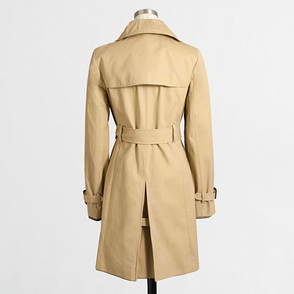 J.Crew Factory Factory belted trench coat