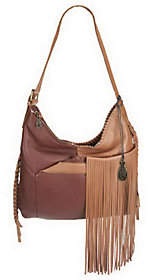 Muxo by Camila Alves Leather SquareHobo w/Fringe