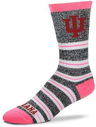 For Bare Feet Women's Indiana Hoosiers Striped Crew Socks
