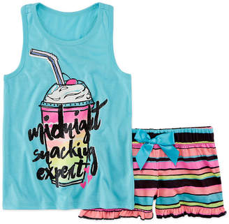 Total Girl 2pc Shorts Pajama Set - Girls