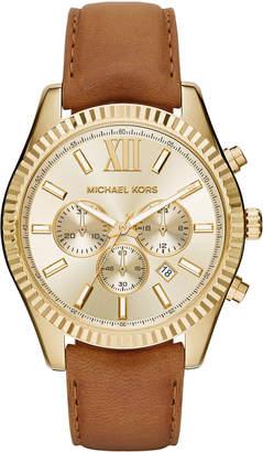 MICHAEL Michael Kors Lexington 44mm Leather Strap Watch