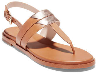 Cole Haan Ainslee Grand 2-Tone T-Strap Sandals
