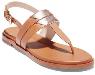 e55d750795e Cole Haan Brown Leather Straps Women s Sandals - ShopStyle