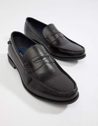 Farah Jeans High Shine Leather Loafer