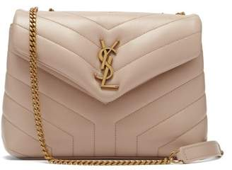 Saint Laurent Loulou Medium Leather Shoulder Bag - Womens - Beige