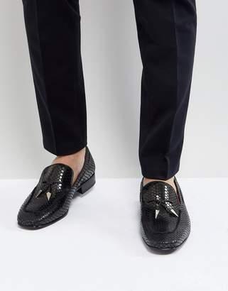Jeffery West Jung Tassel Loafers In Black