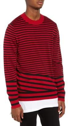 The Rail Asymmetrical Stripe Longline Sweater