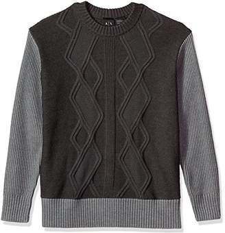 Armani Exchange A|X Men's Multi Knit Oversized Pullover Sweater