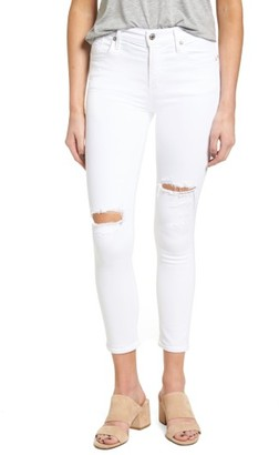A Gold E Women's Agolde Sophie High Rise Crop Skinny Jeans