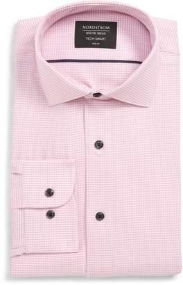 Nordstrom Tech-Smart Trim Fit Stretch Texture Dress Shirt