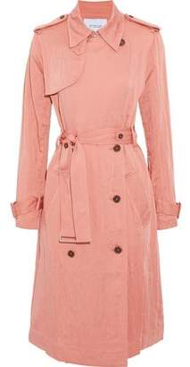 Derek Lam 10 Crosby Double-Breasted Crinkled Woven Trench Coat