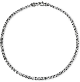 "Macy's Chain Necklace, 22"" in Stainless Steel"