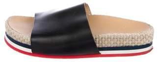 Moncler 2018 Leather Espadrille Sandals