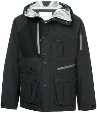 White Mountaineering buttoned hooded jacket